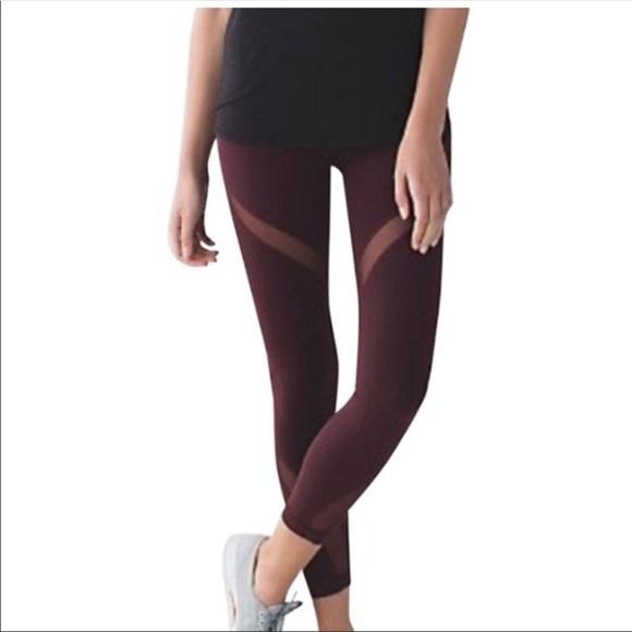 ac7d13855 lululemon athletica Pants - Lululemon High Waisted Mesh Cutout Leggings